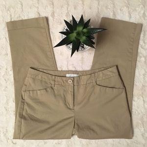 """New York & Company"" Kaki Crop Pants - Size 0"
